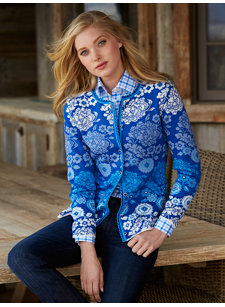 porcelain blue cardigan