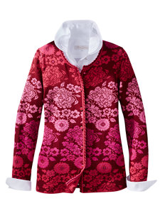 porcelain red cardigan