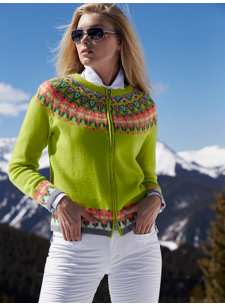 stacey lime nordic sweater