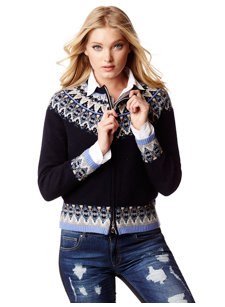 stacey navy nordic cardigan