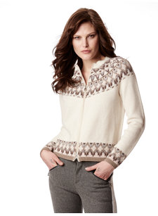 stacey white nordic cardigan