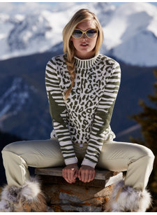 snocat military leopard sweater