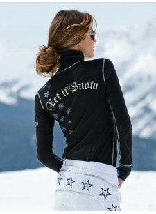 ski resort snow t-neck