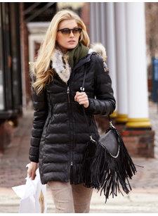 demi leather coat