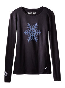 snowflake black t-shirt