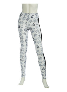 snowfall white compression legging