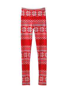 red winter legging