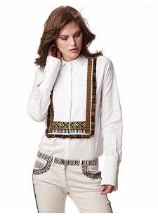 livia white shirt