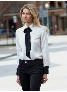 claire tie blouse