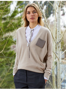 look 1 v-neck sweater