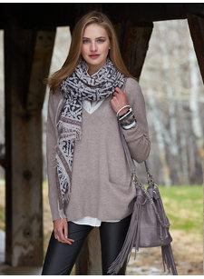 anisa deep v-neck sweater
