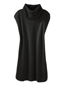 emelia charcoal tunic sweater