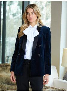 look 5 velvet tux jacket