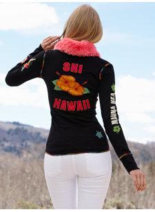 hawaii black henley