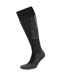men's sk2 black ski sock