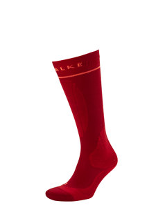 women's energizing red ski sock