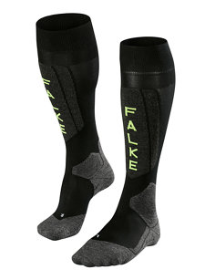 men's austria black ski sock