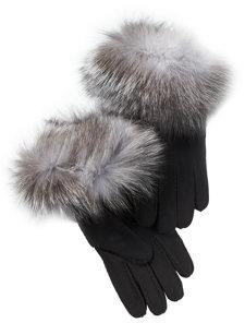 black/silver fox glove
