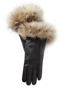 brown finn raccoon glove