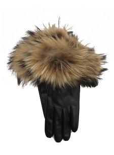 nappa/raccoon fur glove