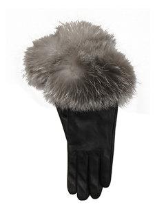 nappa/fox fur glove