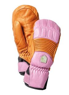 womens fall line pink/orange mitten