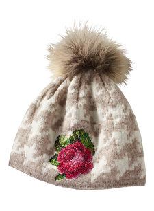 clan rose knit hat
