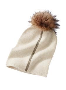 aron stripe pom hat