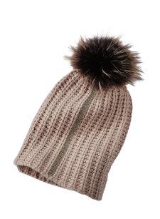 mea stripe pom hat