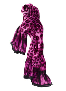 leopard pink scarf