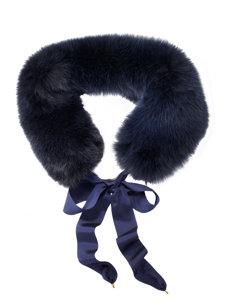 georgia fox fur scarf