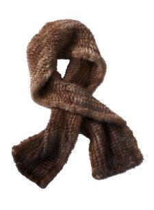 moka mink scarf