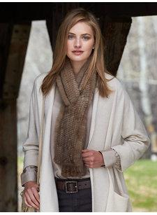 alia mink scarf
