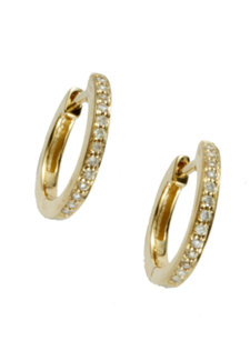pave small hoop earrings