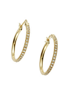 pave medium hoop earrings