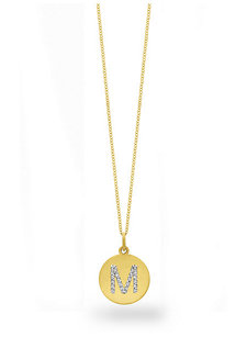 diamond disc initial m charm