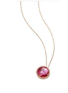 cheryl pink topaz necklace