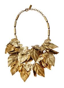 leaf gold necklace
