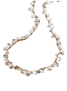 jaime petal pearl necklace