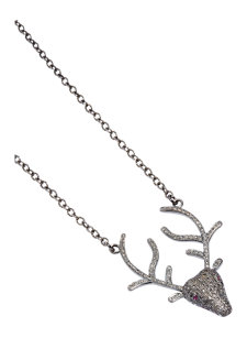 louisa stag necklace