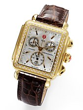 deco gold diamond watch