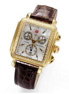 deco gold diamond watch