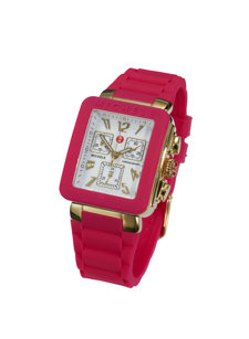 jelly hot pink watch