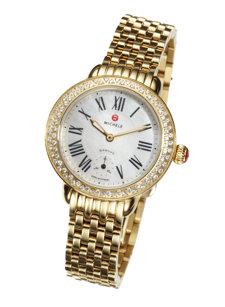 serein gold diamond dial watch