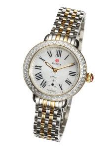 serein two tone diamond dial watch