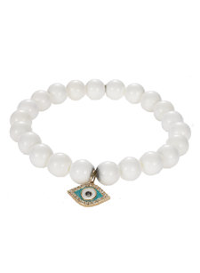 sea clam evil eye bracelet