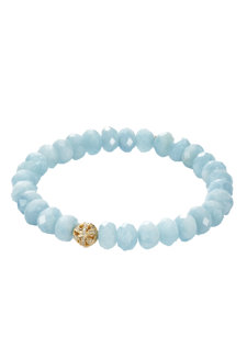 aquamarine butterfly ball bracelet