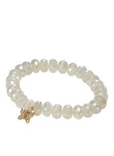 pearl chalcedony butterfly bracelet