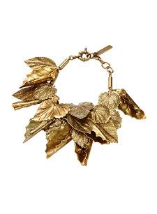 leaf gold bracelet