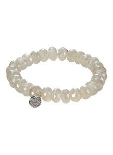 chalcedony disc bracelet